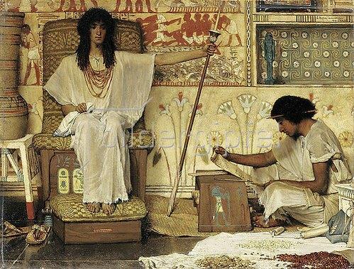 Sir Lawrence Alma-Tadema: Joseph, Aufseher der Kornkammer des Pharao. 1874