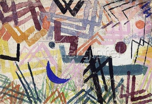 Paul Klee: Spiel der Kräfte einer Lechlandschaft. 1917