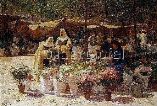 Victor Gabriel Gilbert: Auf dem Blumenmarkt.