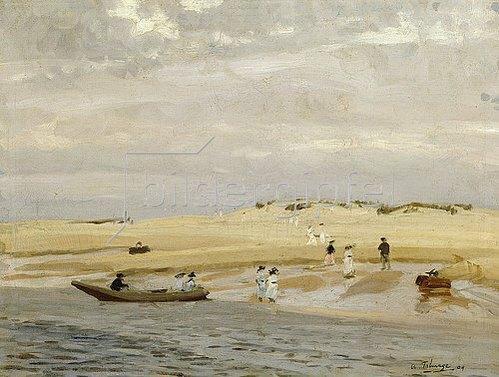 Algernon Talmage: Strandszene. 1909