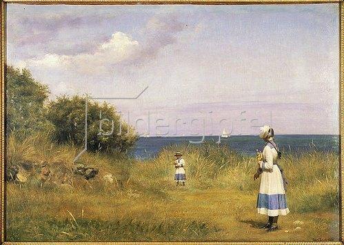 Carl Bloch: Fra Hellebaek. 1884