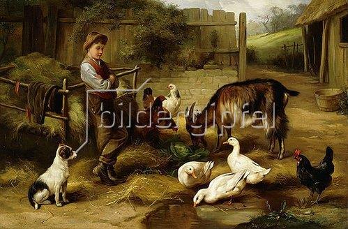 Charles Hunt: Junge auf einem Bauernhof. 1903