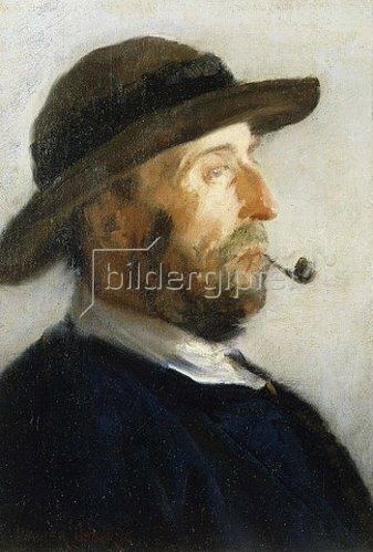 Walter Osborne: Portrait eines Künstlers (wahrscheinlich Augustus Burke, 1838-1891). 1884