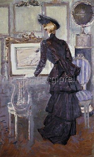 Paul César François Helleu: Daisy, Prinzessin von Pless beim Besuch eines Ateliers. 1907