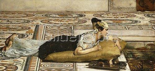 Sir Lawrence Alma-Tadema: Füttern der Goldfische. 1874