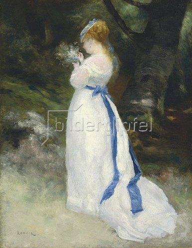 Auguste Renoir: Portrait von Lise (Lise mit einem Feldblumenstrauß). 1867