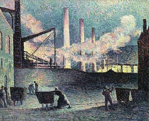 Maximilien Luce: Fabrikschornsteine in Couillet. 1903
