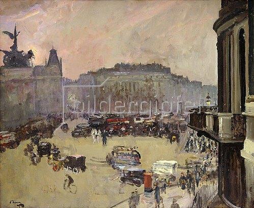 Sir John Lavery: Hyde Park Corner im Winterlicht. 1925