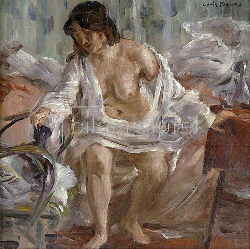 Lovis Corinth: Beim Aufstehen. 1910