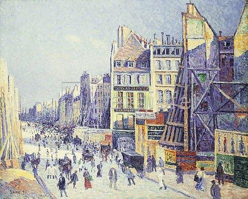Maximilien Luce: La Rue Reaumur. 1897
