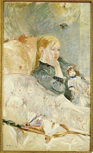 Berthe Morisot: Mädchen mit ihrer Puppe. 1896