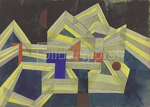 Paul Klee: Architektur, transparent-strukturell. 1921
