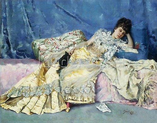 Julius Leblanc Stewart: Lady on a Divan. 1877