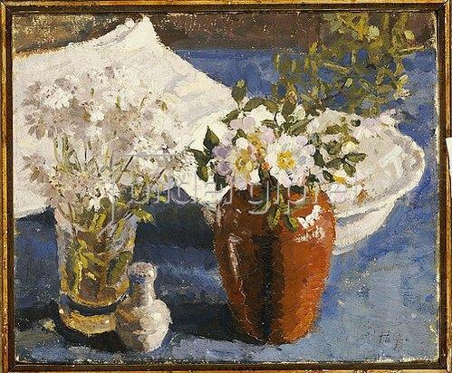 Harold Gilman: Stillleben mit Blumen in einer Vase. Um 1911-14