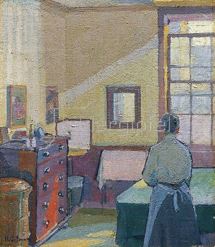 Harold Gilman: Interieur (Mrs. Mounter). 1917