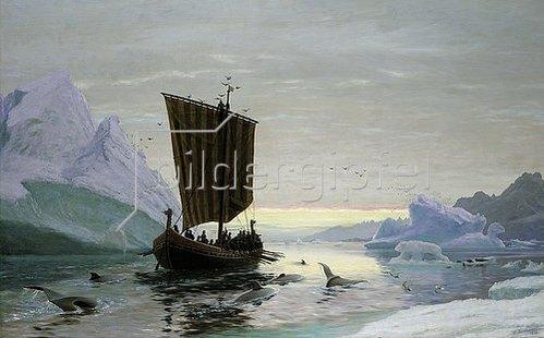 Jens Erik Carl Rasmussen: Erik der Rote entdeckt Grönland. 1875