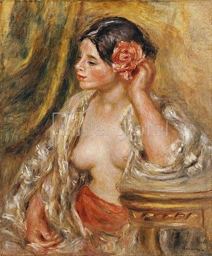 Auguste Renoir: Gabrielle mit einer Rose im Haar. 1910
