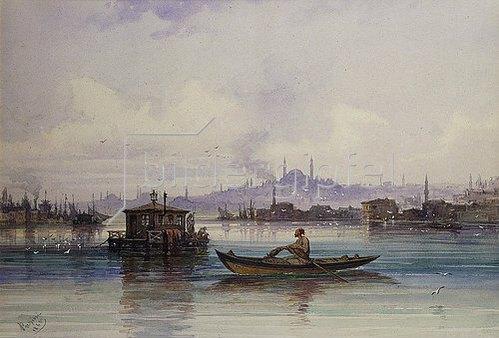 Amadeo Preziosi: Am Bosporus. 1865