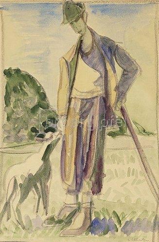 Ernst Ludwig Kirchner: Der Hirte.