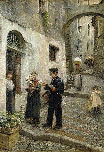 Paul Fischer: Die Morgenpost. 1913