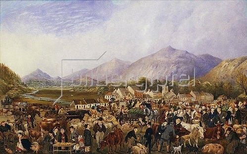 P. Rigby: Markttag in Kilearney.
