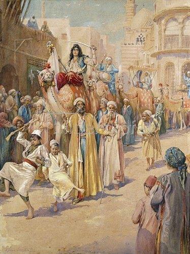 James Shaw Crompton: Ein Hochzeitsumzug durch Kairo.