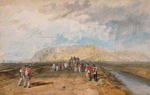 Joseph Mallord William Turner: Winchelsea von der Rye Road aus gesehen.