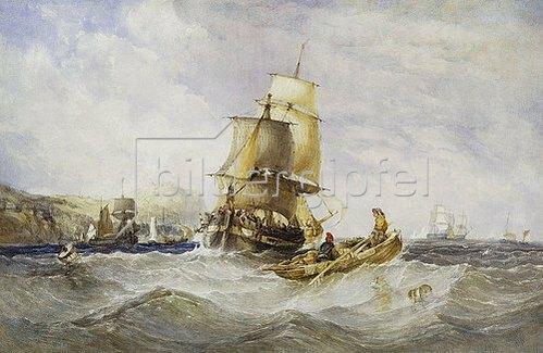 Charles Bentley: Vor der Küste von Scarborough. 1848