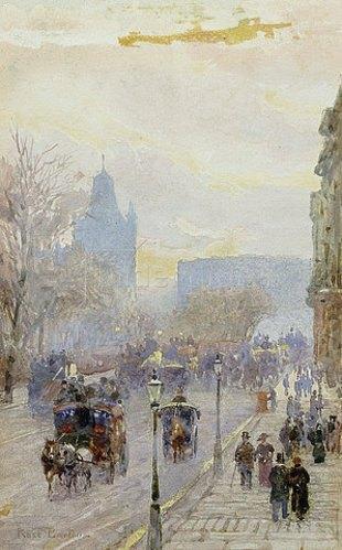 Rose Maynard Barton: Straßenansicht in London.