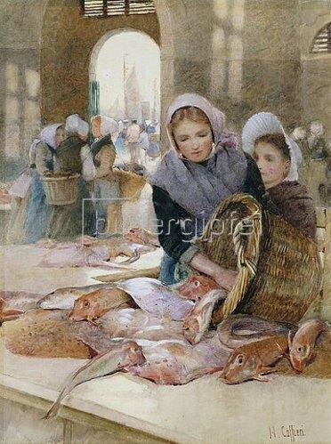 Hector Caffieri: Frauen auf dem Fischmarkt, Boulogne (?).