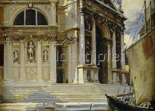 John Singer Sargent: Santa Maria della Salute, Venedig.