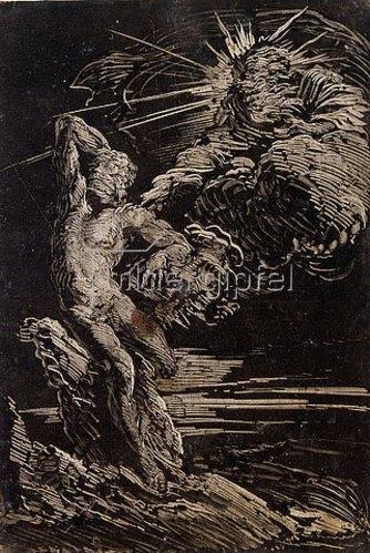 Giovanni Benedetto Castiglione: Die Erschaffung des Adam. Um 1642
