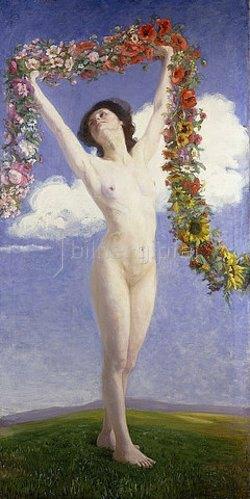 Johann Friedrich Engel: Die Jahreszeiten (Sommer). 1910 (siehe auch Bildnummer 34830 + 34832)