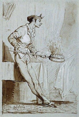 Mariano Fortuny: Der Diener mit dem Bettwärmer.