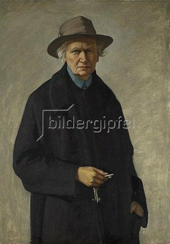 Ottilie Roederstein: Selbstbildnis mit Schlüsseln. 1936