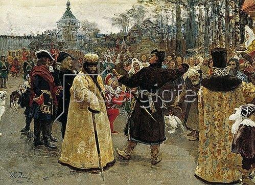 Ilja Efimowitsch Repin: Die Zaren Iwan Alexejewitsch und Pjotr Alexejewitsch von Russland. 1900