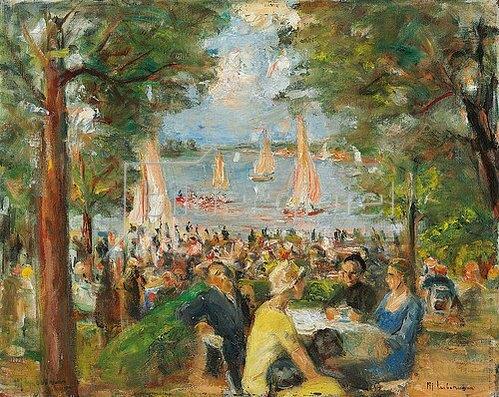Max Liebermann: Gartenlokal an der Havel. 1934
