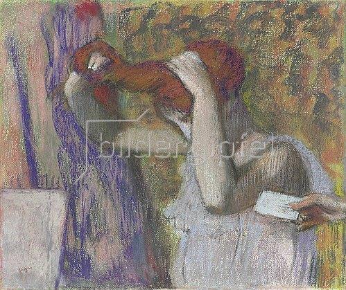 Edgar Degas: Frau beim Frisieren, der Brief. Um 1888-92