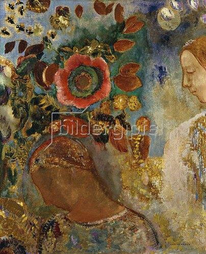 Odilon Redon: Zwei Mädchen mit Blumen. 1912