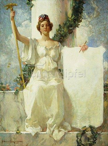 Walter Granville-Smith: Allegorie der Gerechtigkeit. Um 1890-95