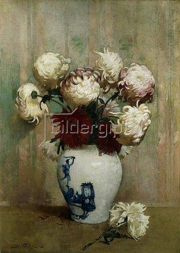 Soren Emil Carlsen: Chrysanthemen in einer asiatischen Vase.