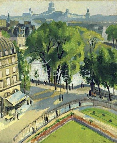 Robert Delaunay: Ansicht des Quai du Louvre. 1928