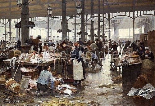 Victor Gabriel Gilbert: Die Fischhalle. 1881