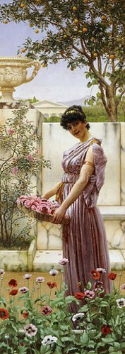 John William Godward: Die Blumen der Venus. 1890