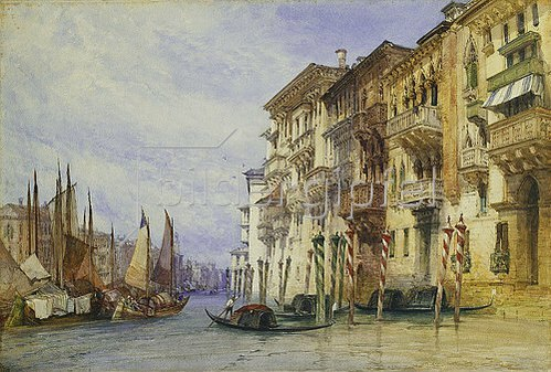 William Callow: Am Eingang zum Canal Grande, Venedig. 1898