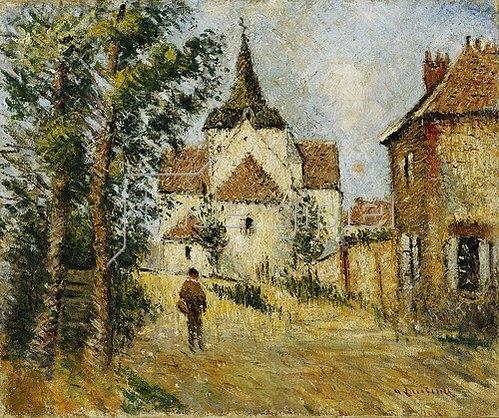 Gustave Loiseau: Die Dorfkirche. Um 1923
