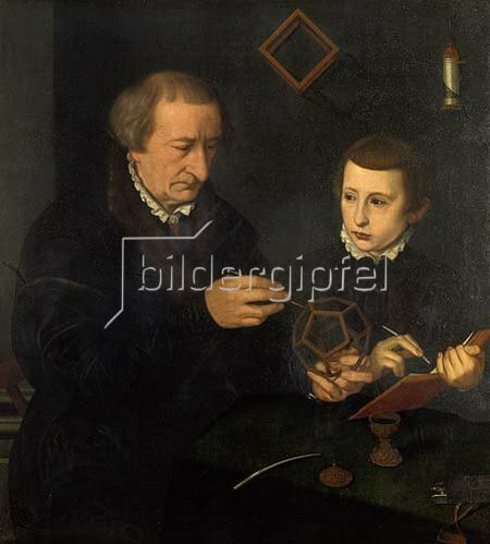 Nicolas Neufchatel: Johannes Neudörfer d.Ä.(1497-1563) mit seinem Sohn.