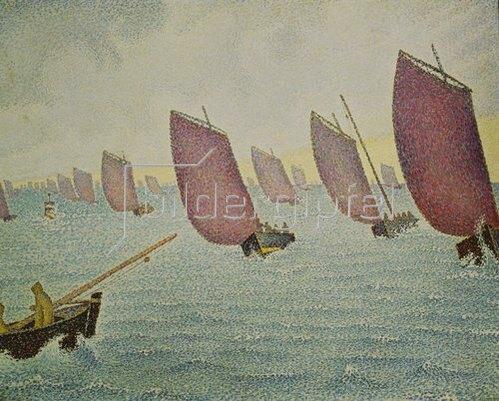 Paul Signac: Regatta vor Concarneau. 1891
