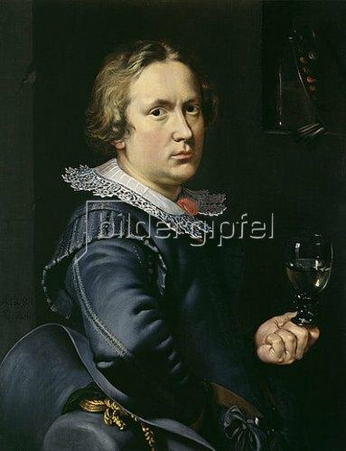 Niederländischer Meister: Selbstbildnis. 1624