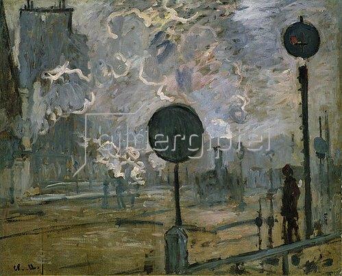 Claude Monet: Der Bahnhof Saint-Lazare (Le Signal). 1877